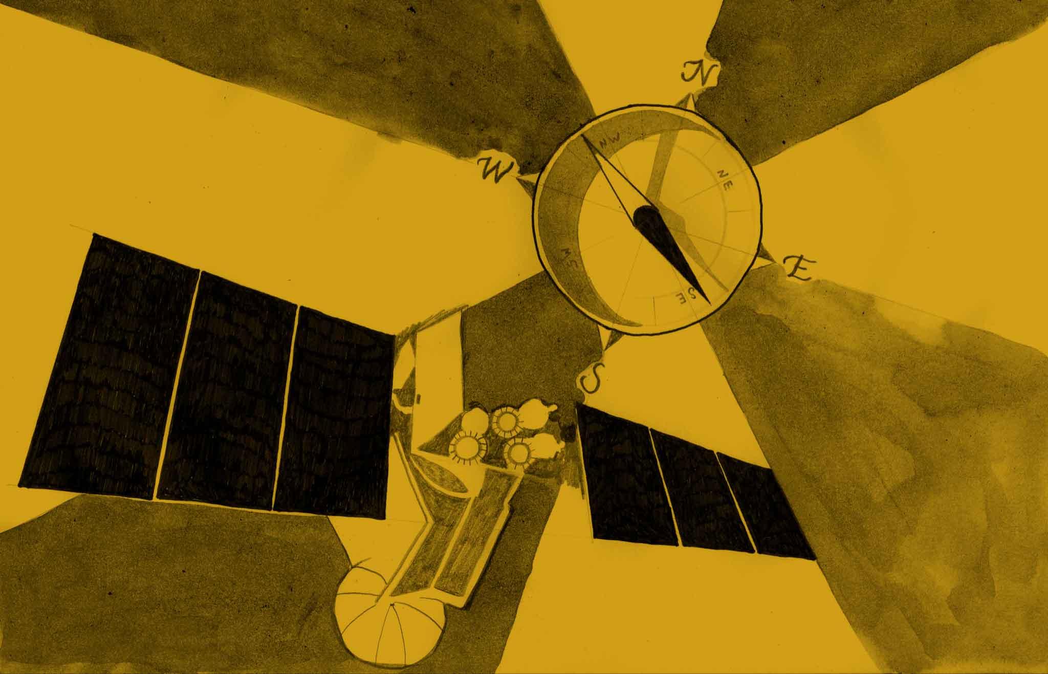 Kompass & satellit